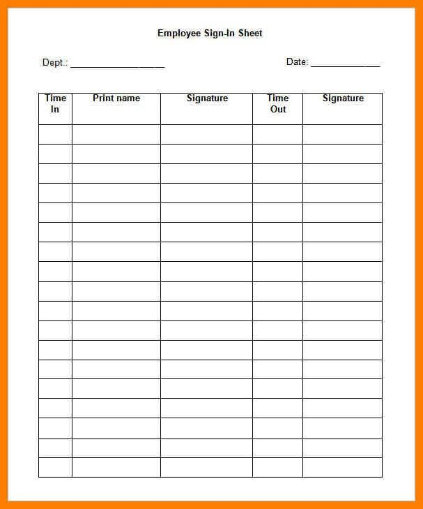 9+ sign in sheet template word | lease template