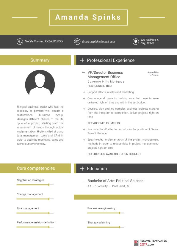 Business Resume Template Is Designed To Help You To Stand Out ...