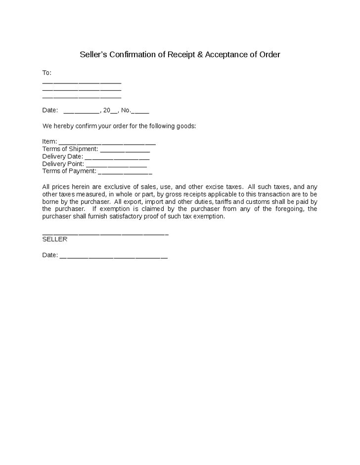 Fax Confirmation Template. confirmation of verbal order template ...