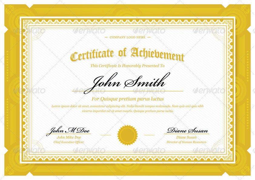10 Landscape Certificates | Blank Certificates