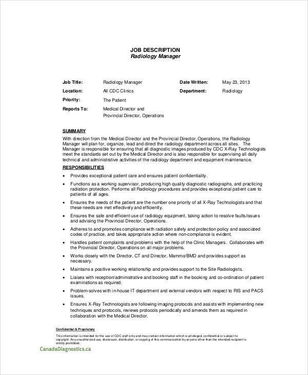Radiologist Job Description - 7+ Free PDF, Word Documents Download ...