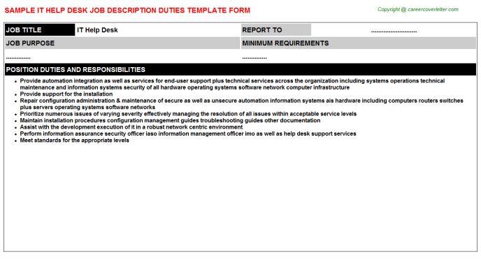 help desk analyst job description sample it service desk job ...