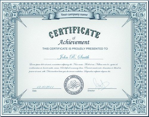 Best certificate vector design free vector download (1,334 Free ...