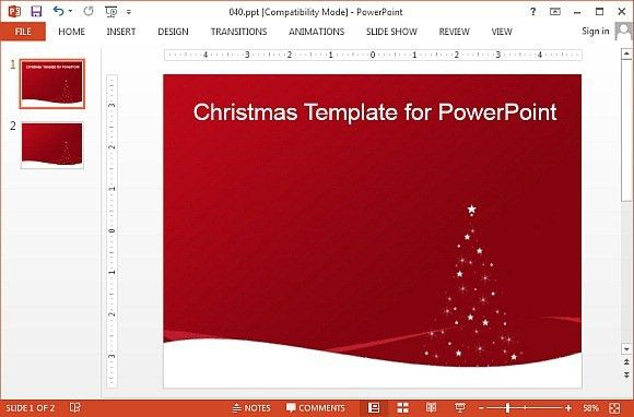 Animated Christmas PowerPoint Templates