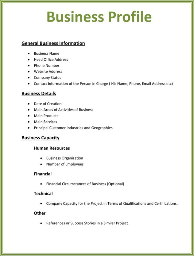 Company Profile Template Doc. resume template basic job ...