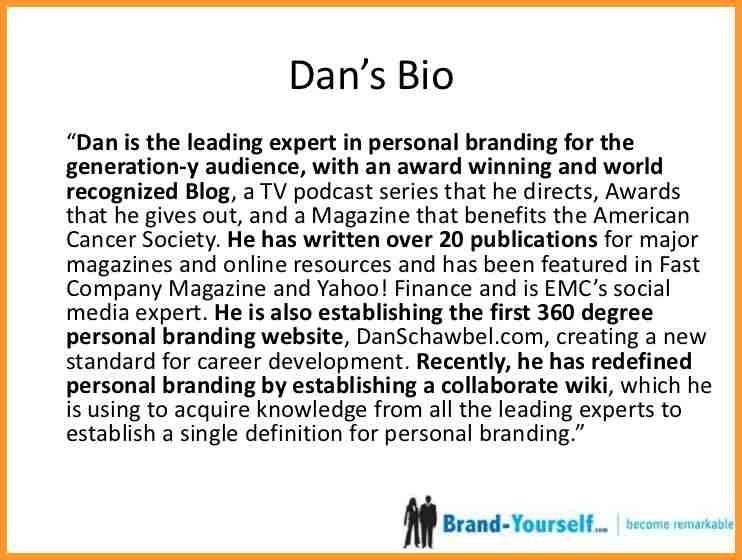 SHORT PROFESSIONAL BIO EXAMPLES | letter format mail