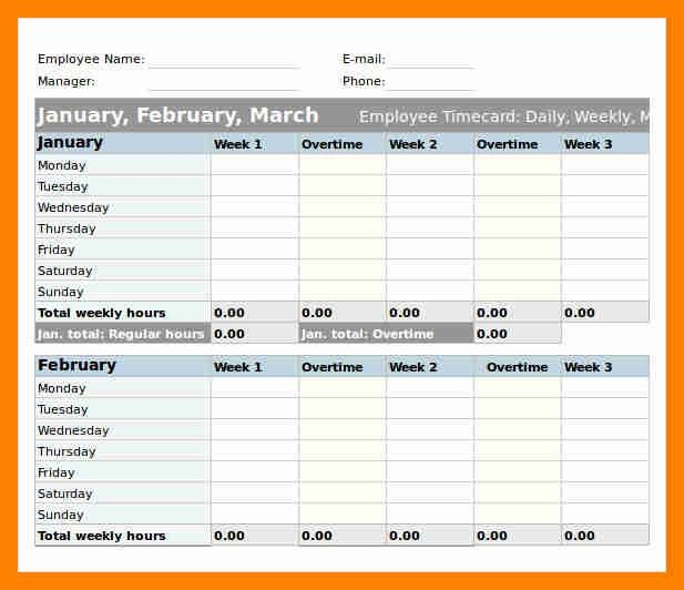 Excel Timesheet Template. Excel Daily Timesheet Template Excel ...