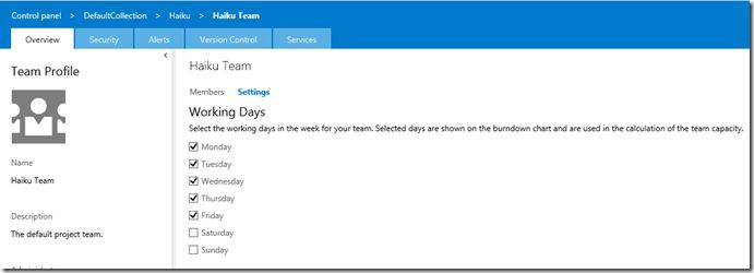 Removing weekends from the burndown chart – Microsoft Visual ...