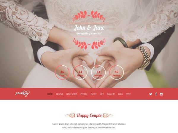 28 High Quality Wedding Website Templates | TemplateMag