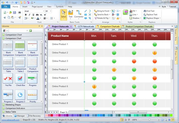 Easy Project Status Software - Create Great-looking Project Status ...