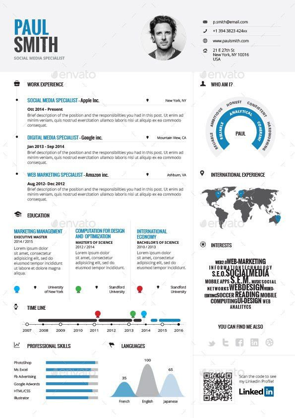 Infographic Resume Vol.1 by paolo6180 | GraphicRiver