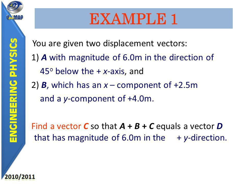 OBJECTIVES Ability to understand and define scalar and vector ...