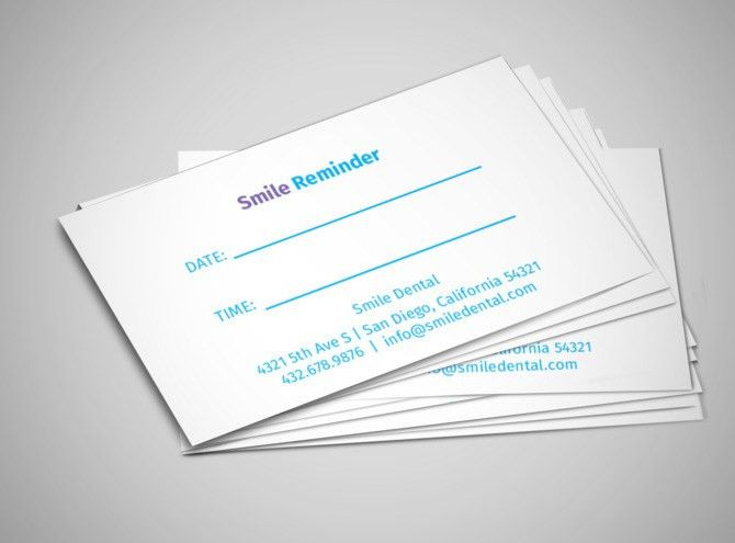Medical & Health Care Reminder Card Templates | MyCreativeShop