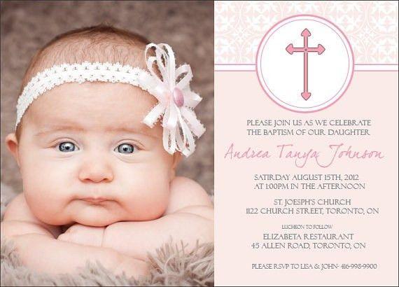 Baptism Invitations For Girls | badbrya.com