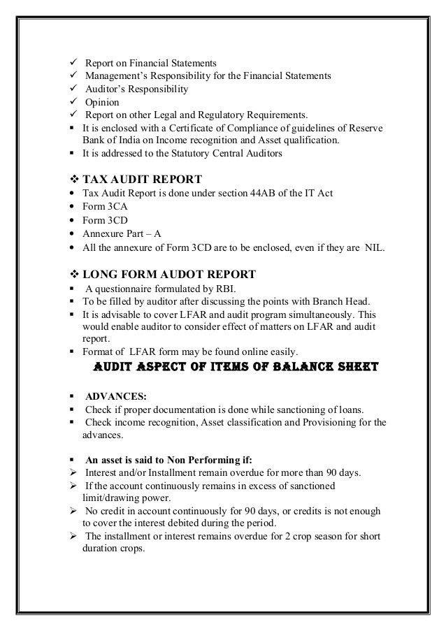 Bank audit slideshare