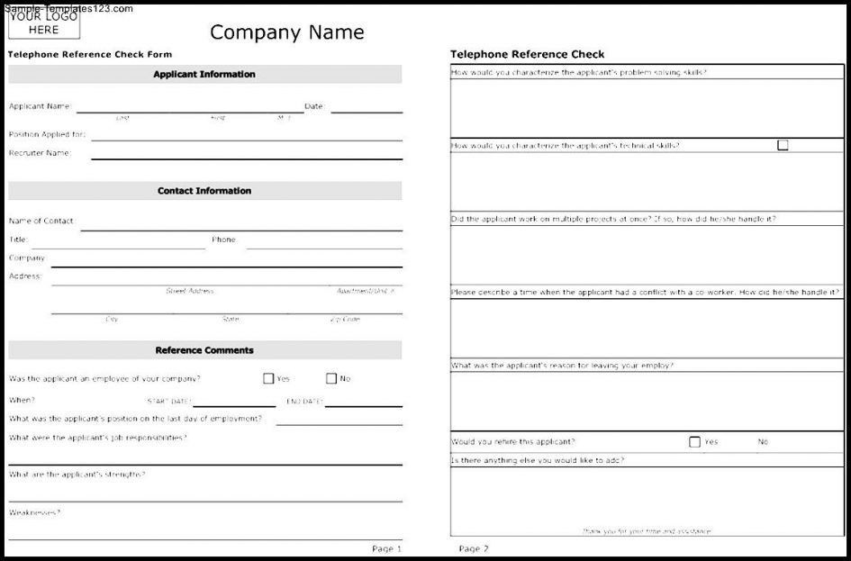 Free References Template] Reference Sheet Template 30 Free Word ...