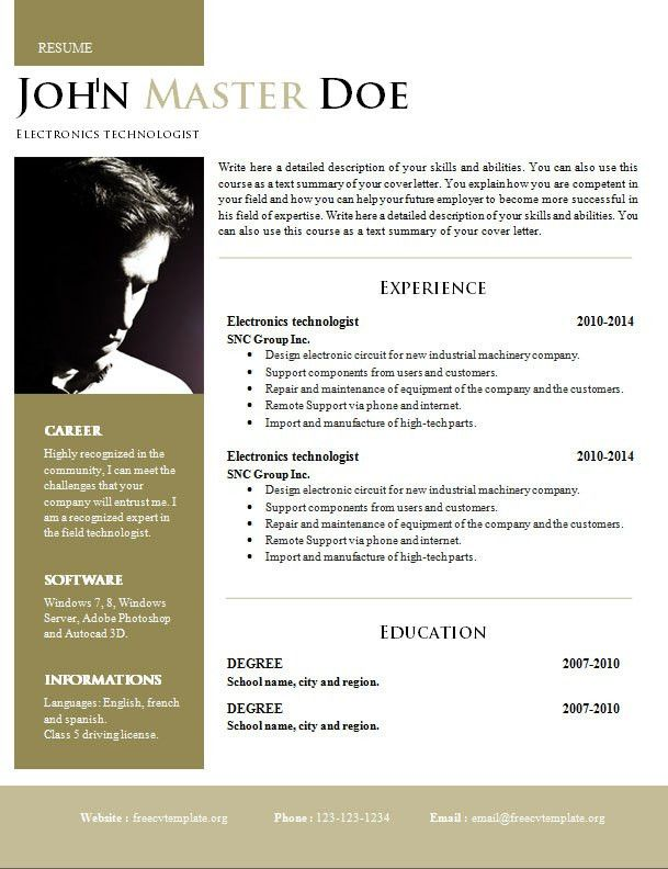Resume Template 92 Free Word Excel Pdf Psd Format Download 2017 ...