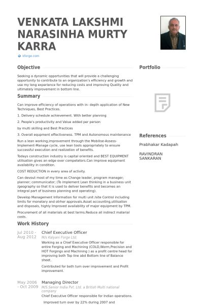Chief Executive Officer Resume samples - VisualCV resume samples ...