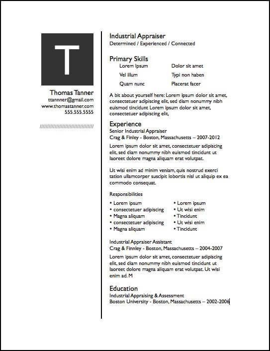 Drop Cap Pages Resume Template | Free iWork Templates