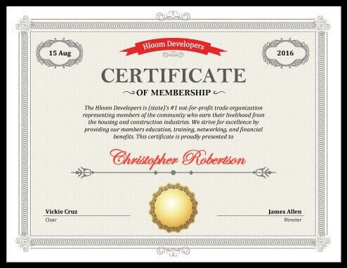 5 Certificate of Membership Templates [free download]