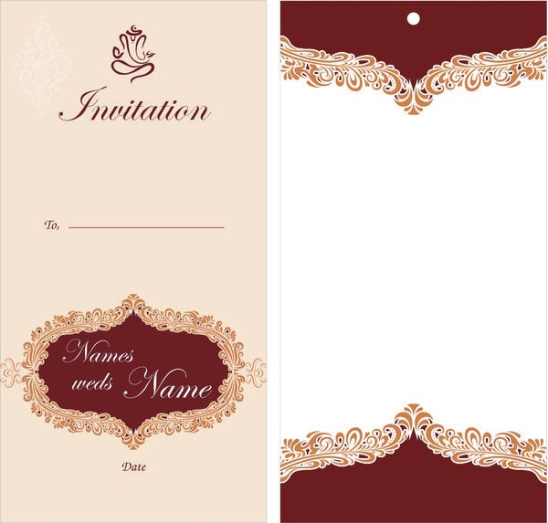 Wedding card design Free vector in Coreldraw cdr ( .cdr ) vector ...