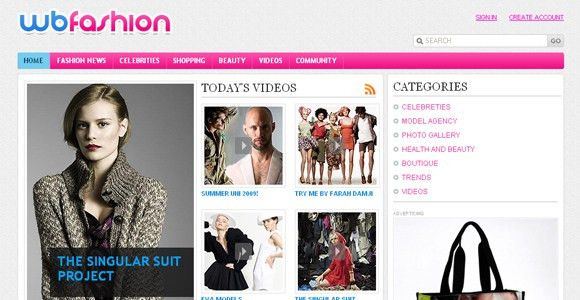 WB Fashion - Free Portal Template | ChocoTemplates
