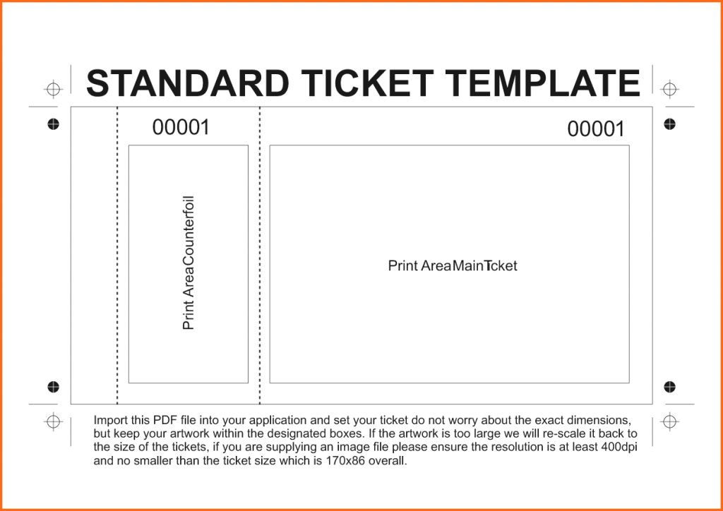 Word Template Tickets Admission Ticket Event Plane Ticket : Masir