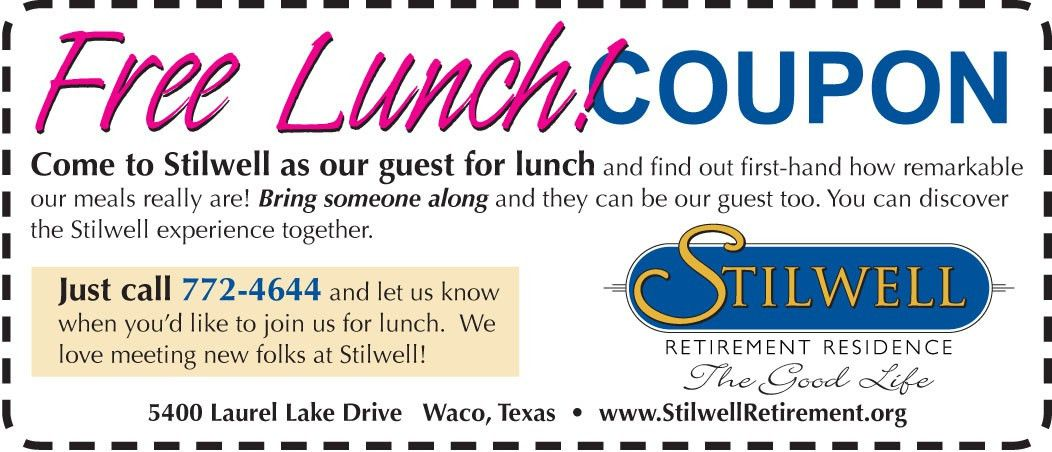Stilwell Retirement | Free Lunch!