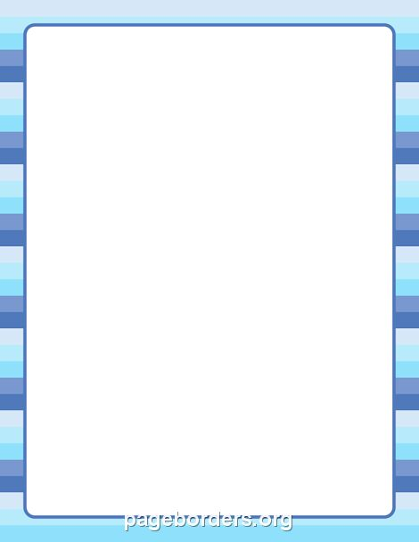 Printable winter striped border. Use the border in Microsoft Word ...