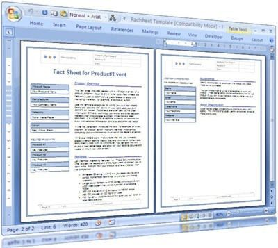 Fact Sheet Template For Technical Writers | These MS Word te… | Flickr