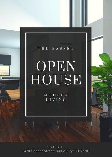 Black and White Elegant Open House Flyer - Templates by Canva