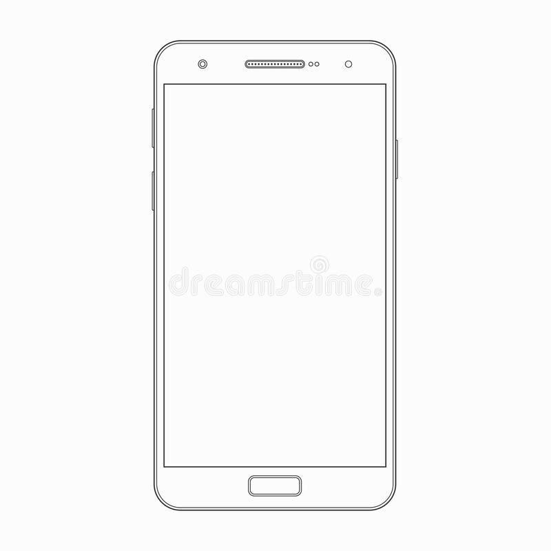 Vector Smartphone Outline Template. Phone Icon Stock Vector ...