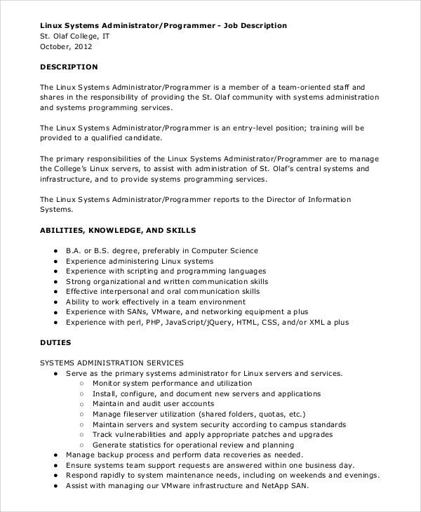 Programmer Job Description. Best 25+ Administrative Assistant Job ...