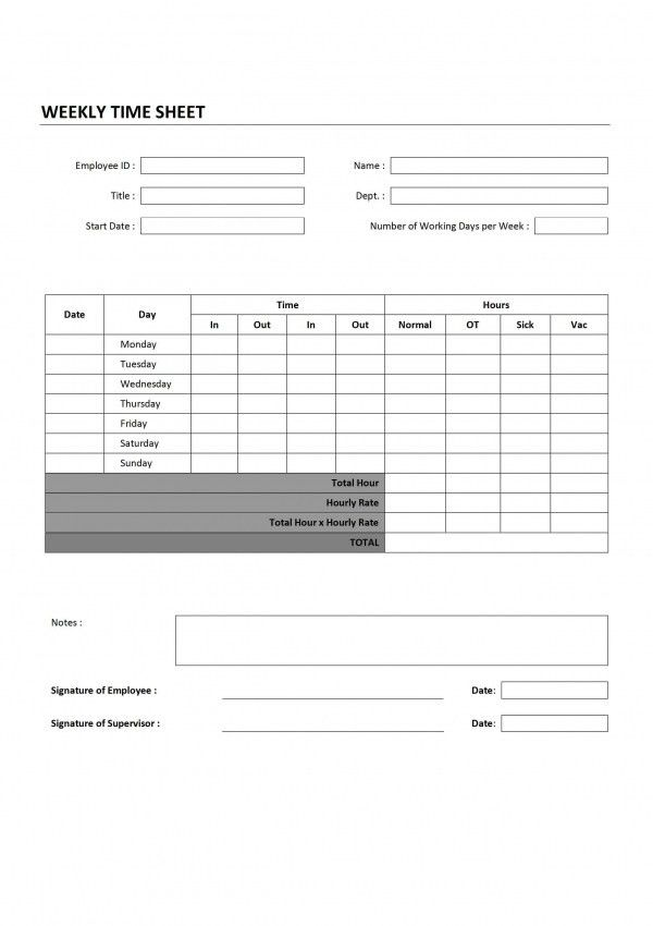 Timesheet Invoice Template Word | Design Invoice Template