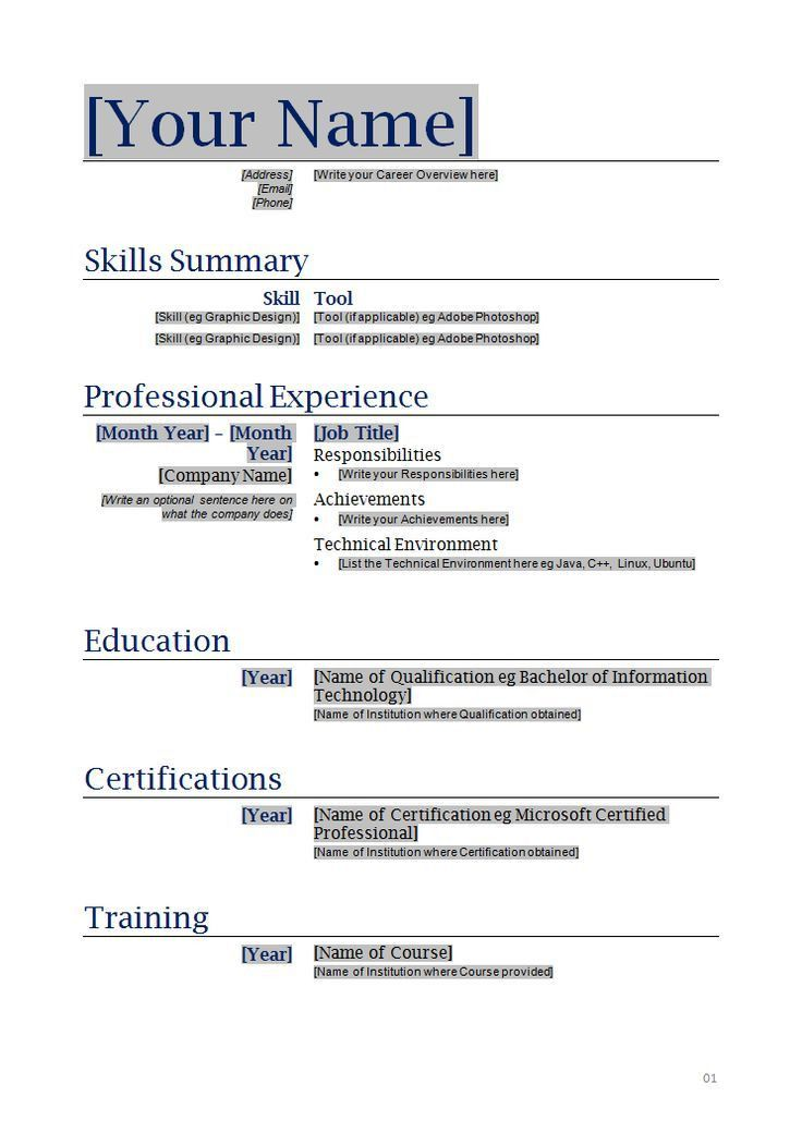 How To Do A Job Resume Examples. Example Of Resume For Applying ...
