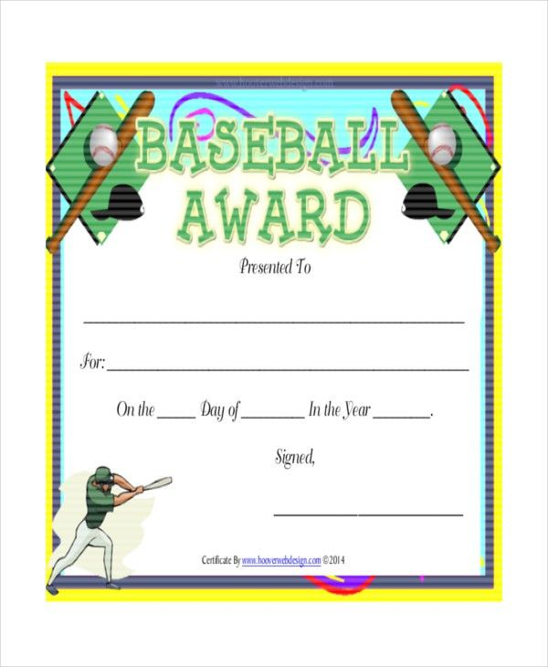 T-Ball Certificate Template - 5+ Free Word, PDF, Documents ...