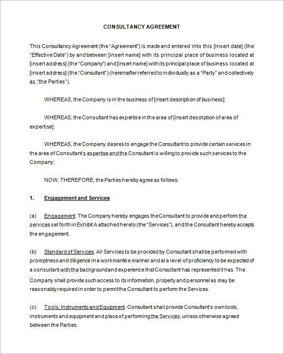 Consultant Contract Template. 6+ Consulting Contract Templates ...
