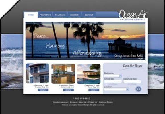 DesignFirms™ Okasoft Design Portfolio: Graphic web layout (sample)