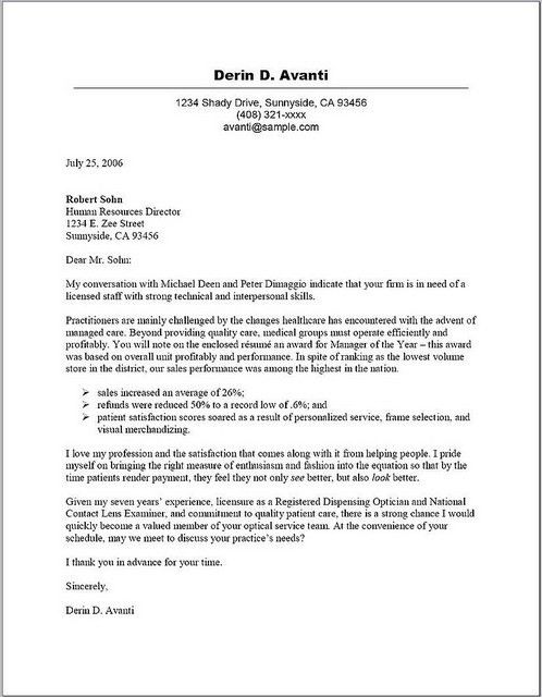 Cover Letter » Drafting A Cover Letter - Cover Letter and Resume ...