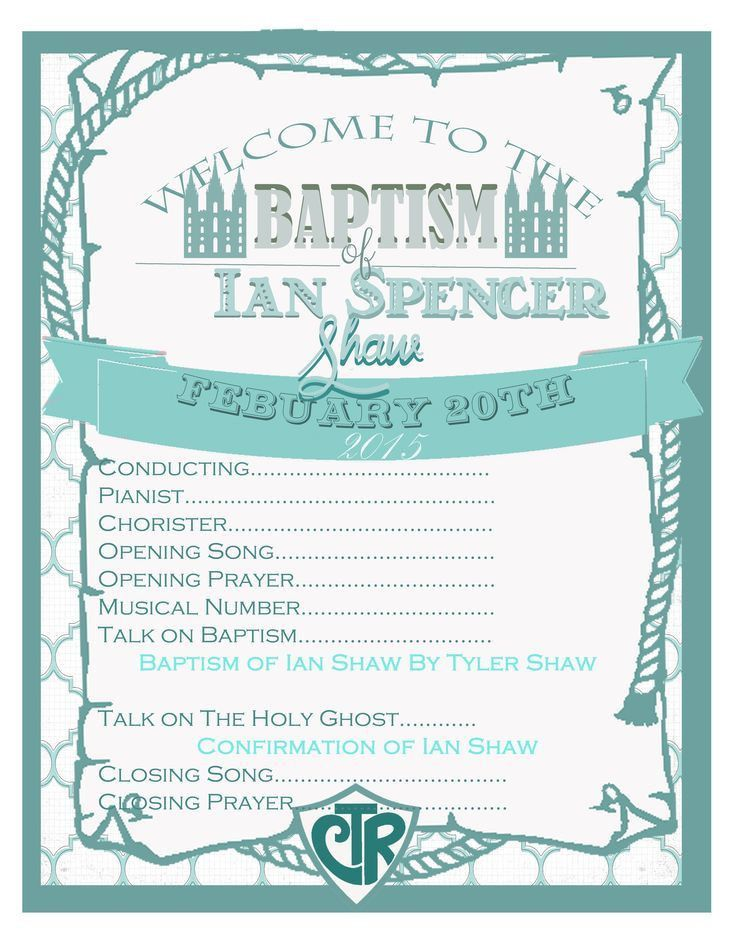 The 25+ best Lds baptism program ideas on Pinterest | Baptism ...