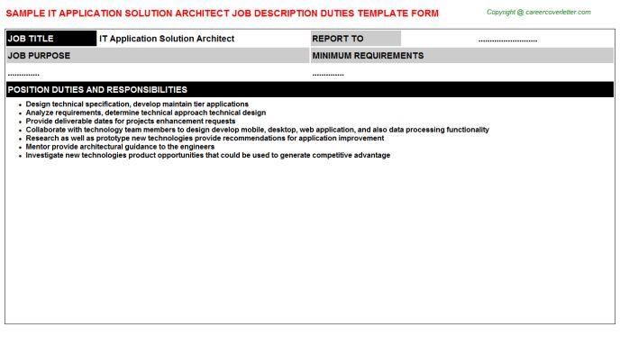 Tableau Architect Job Descriptions