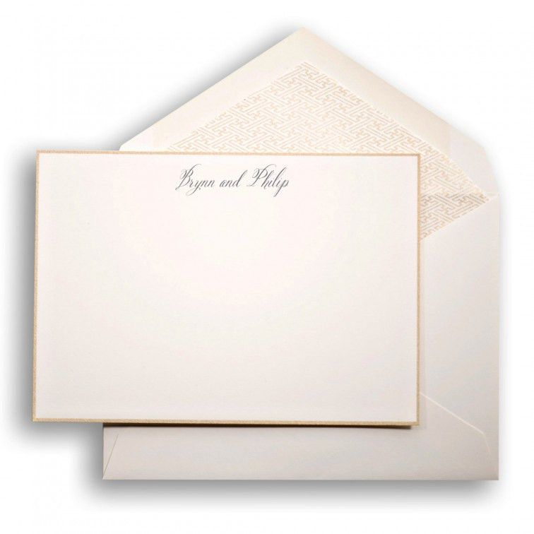 Create your own: Large Social Collection Note Card Set in Gold ...