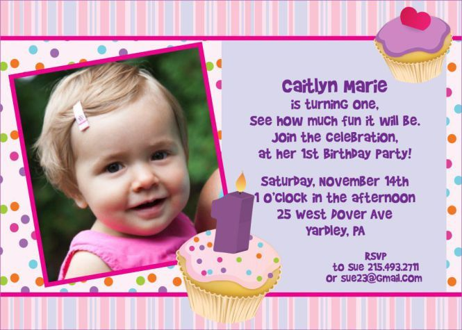 1st Year Birthday Invitation Cards Sample | PaperInvite