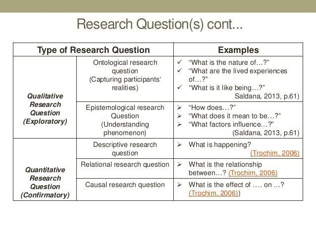 Conceptualizing your study from a methodology standpoint