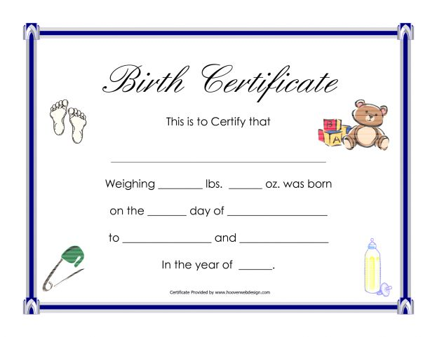 Blank Birth Certificate Template Helloalive Cute Example : Masir