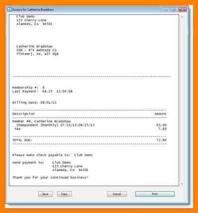 6+ gym bill receipt | portfolio covers