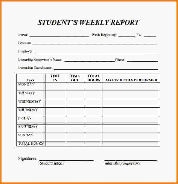 Weekly Report Template.Summary Report Template.gif   Letter .