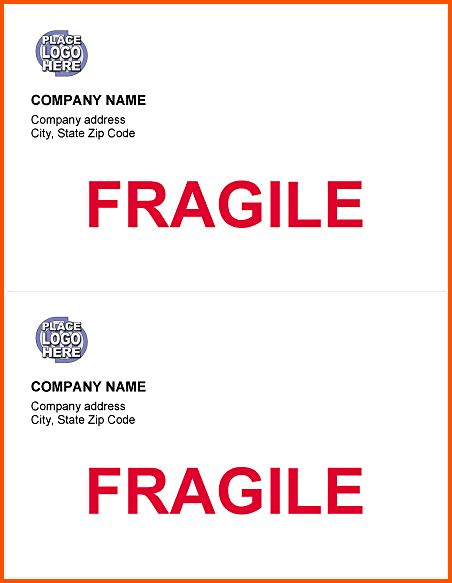 9+ shipping labels template | Survey Template Words
