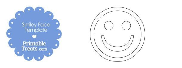 Printable Smiley Face Template — Printable Treats.com