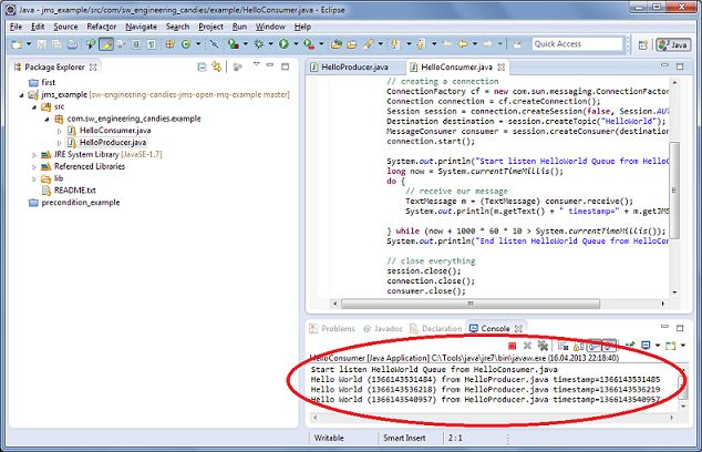 Hello World Java Message Service with Open MQ - Software ...